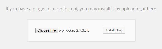 Upload Plugin Wp Rocket