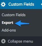 Acf Export
